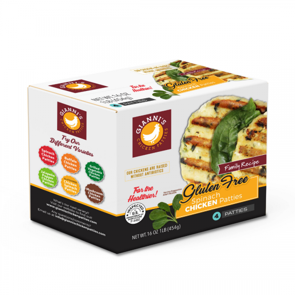 3D Gluten Free Chicken Burger
